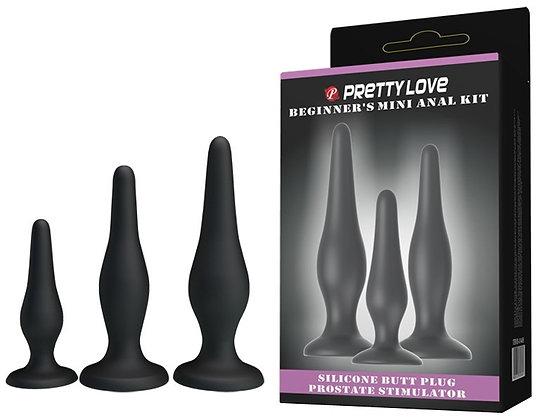 Coffret 3 Plugs en Silicone Pretty Love