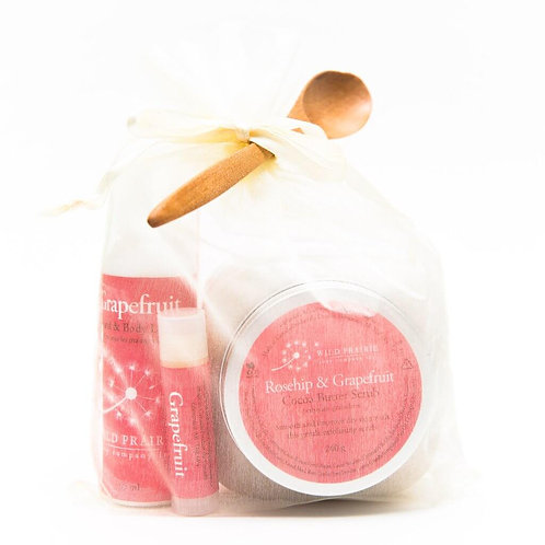 Rosehip & Grapefruit Cocoa Butter Body Scrub Gift Set