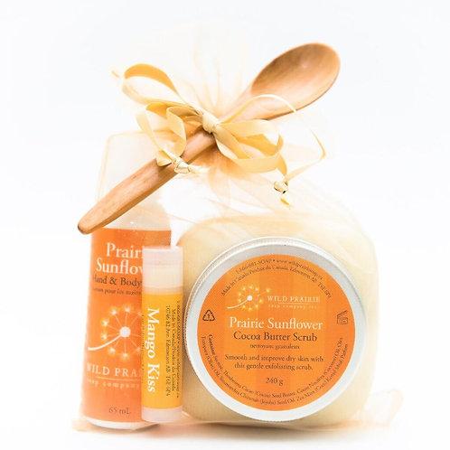 Prairie Sunflower Cocoa Butter Body Scrub Gift Set
