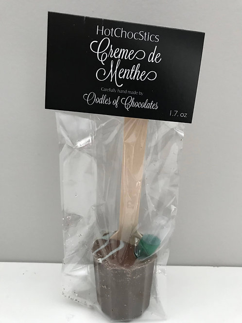 Creme de Menthe Hot Chocolate Sticks