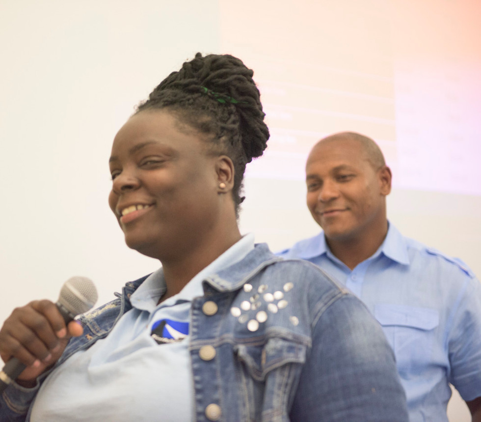 Mentor Tamika Davis addressing the audience at FirstFollowers_ CU Fees and Fines Event.jpg
