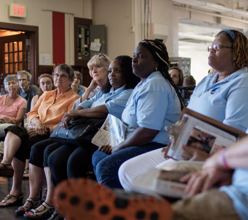 Attentive onlookers at the Susan Burton Event.jpg