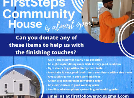 Items Needed for Our Transition House