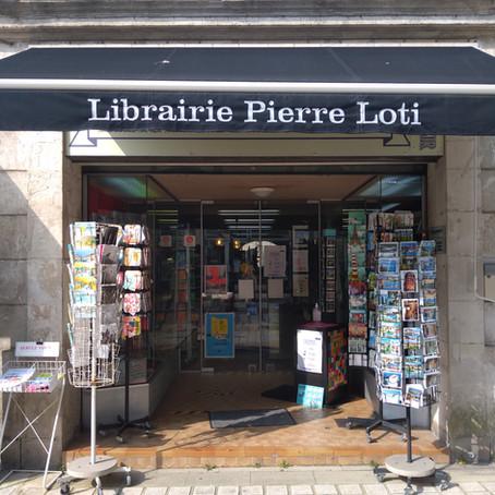 Notre livre à la librairie Pierre Loti