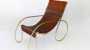 Leather Sling Back Chairs