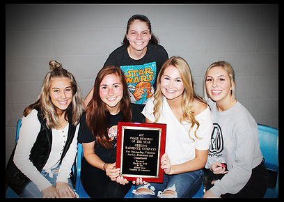 Oregon BBQ Small Business of the Year Award Winner - Girls with Award