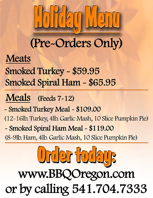 Holiday Meats & Meals
