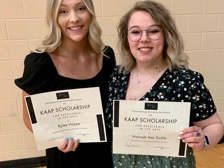 Two KAAP Scholarship winners announced!