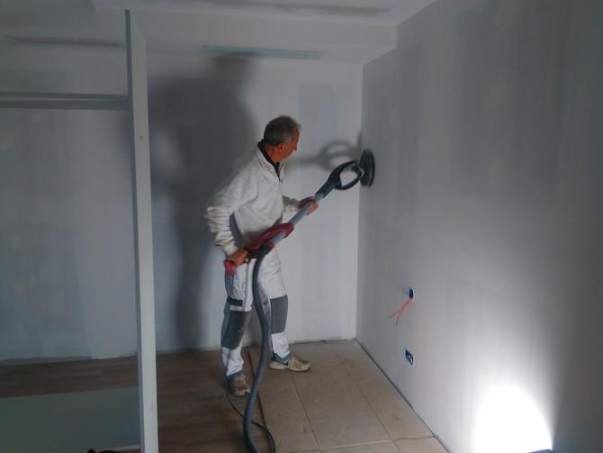 Les peintres sont en action...