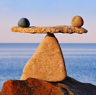 balancing rocks by the sea