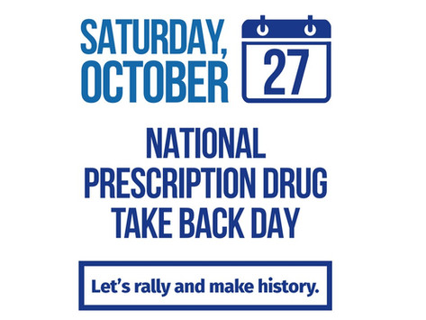 National Prescription Drug Take Back Day is Saturday Oct. 27