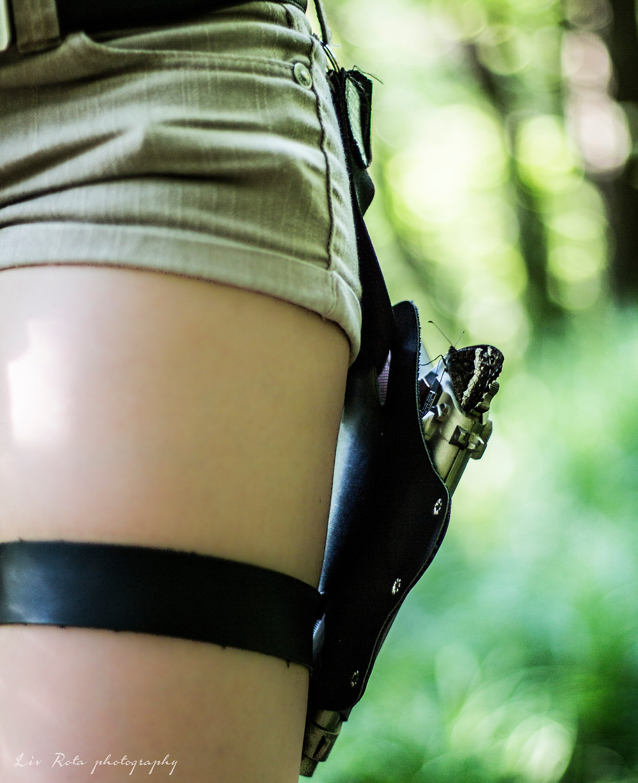Lara Croft bokeh in Val Rosandra