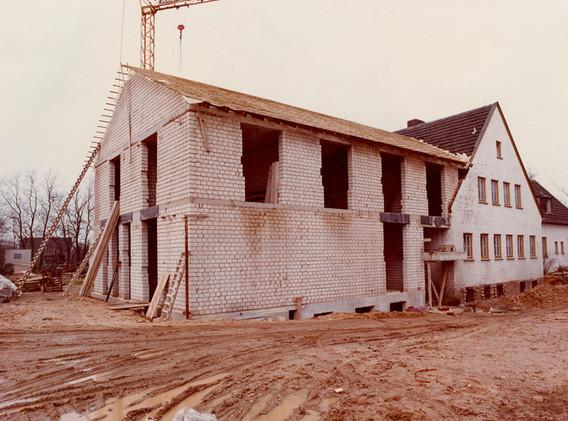 Bau der Küche 1979