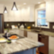 Fantasy Brown Quartzite counter, Curtis Cabetry cabinets