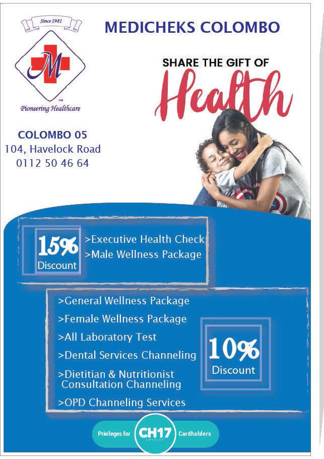 Get upto 15% Discounts from MediCheks Colombo