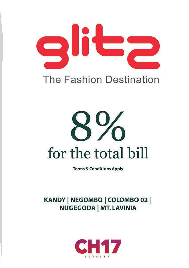 8% Discount from Total Bill from Glitz