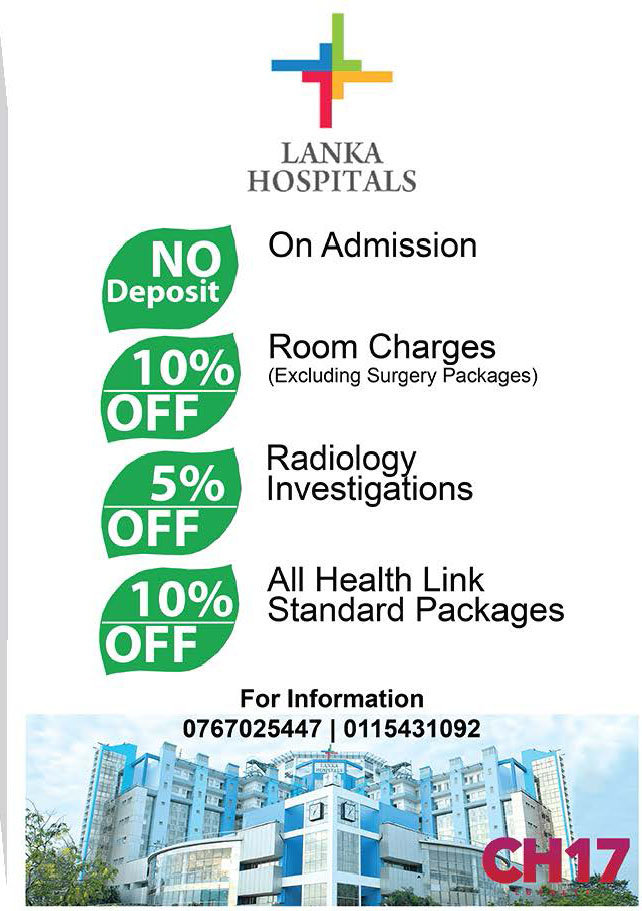 Exclusive discounts from Lanka Hospitals