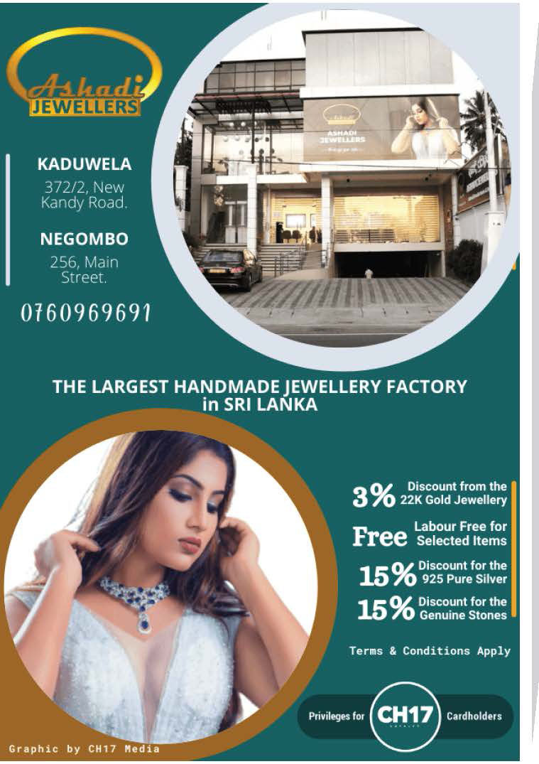 Up to 15% discounts from Ashadi Jewellers