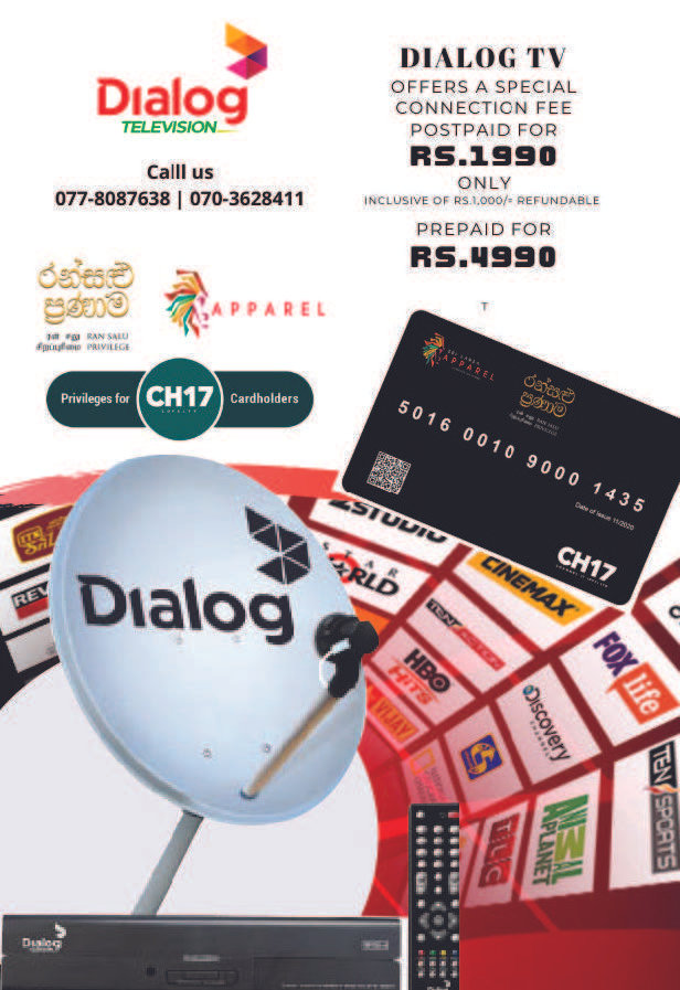 DIALOG TV OFFERS A SPECIAL CONNECTION FEE