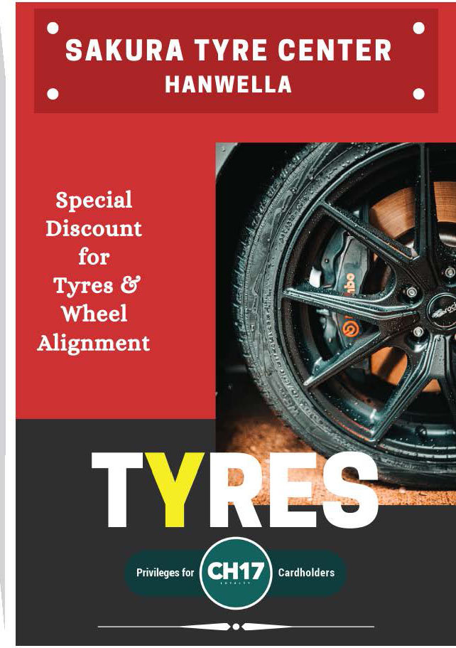 Special Discounts for Tyres and Wheel Alignment from Sakura Tyre Center