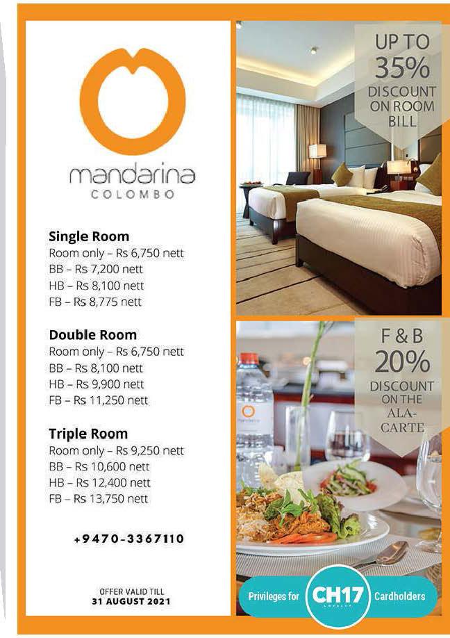 Discounts up to 35% from Mandarina Colombo