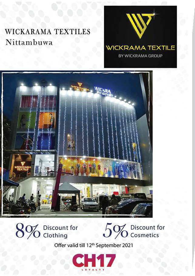 Upto 10% from Wickrama Textiles