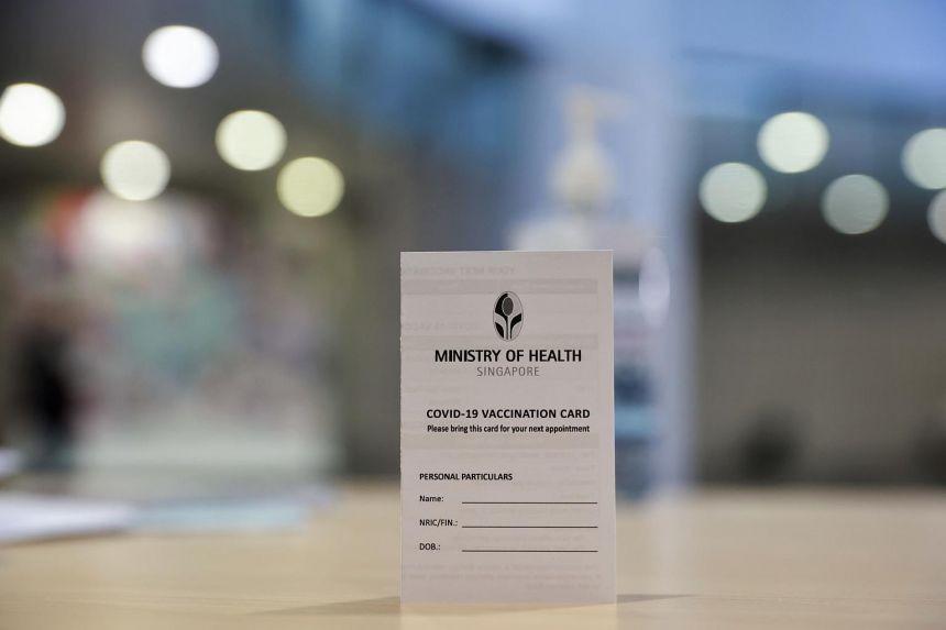 Singapore COVID-19 Vaccination Card