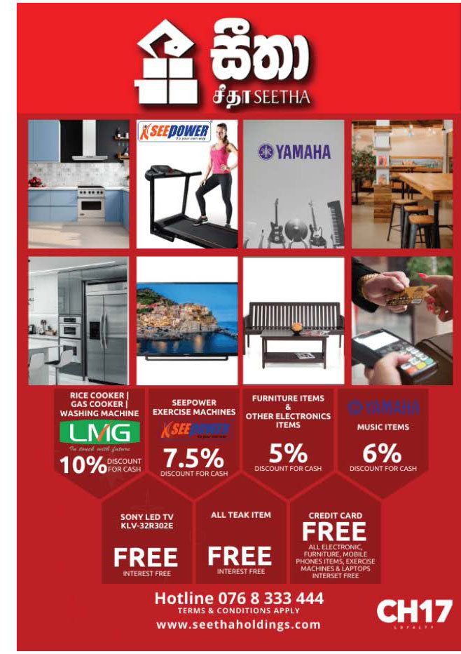 Up to 10% discounts from Seetha Holdings
