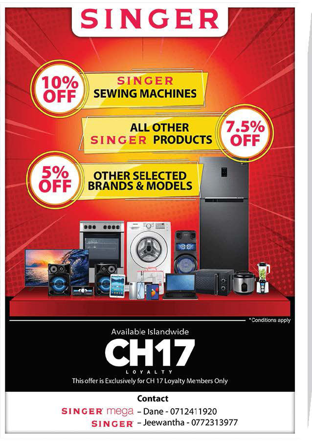 5-10% Off all Singer Products