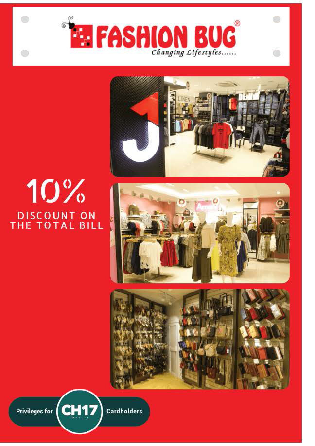 10% discount on the Total Bill from Fashion Bug