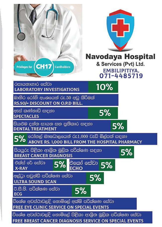 Get discounts upto 10% from NNavodaya Hospital