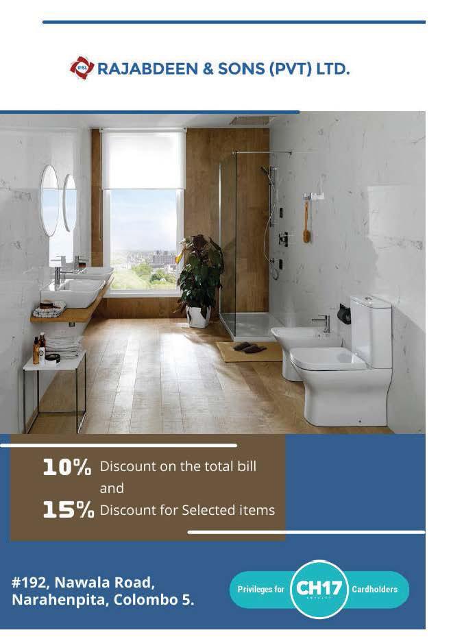 Up to 15% discounts from Rajabdeen & Sons