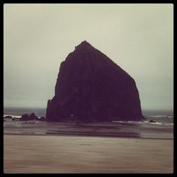Haystack rock at Canon Beach, OR