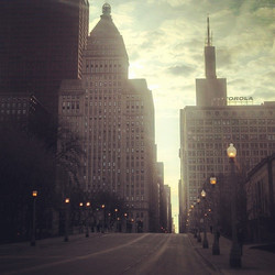 I'm glad we don't have to leave the city to find solitude and God