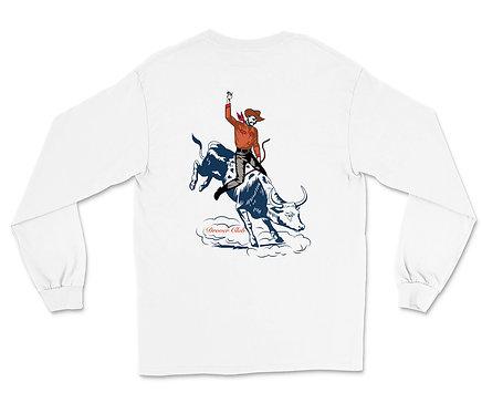 Cowboy on Bull Organic Cotton Ls T-shirt