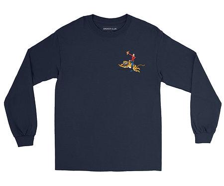 Cowboy on Tiger Organic Cotton Ls T-shirt