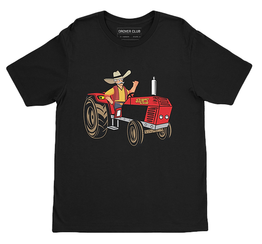 Drover Tractor Organic Cotton T-shirt