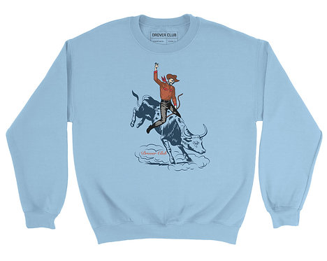 Cowboy on Bull Organic Cotton Crewneck