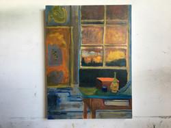 Orange Box on a Table, Still LIfe