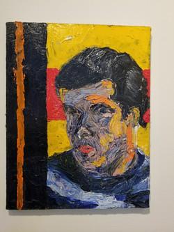 Self-Portrait with orange stripe