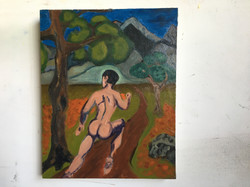 Naked Man Running