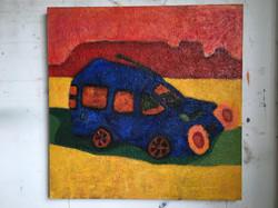 Man in Blue Car 2