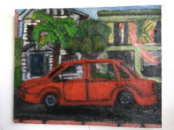 Red Car in the Neighborhood