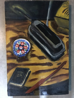 Phone and Basque Plate Still Life