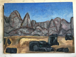 The High Sierras/The Black Divide? After Marsden Hartley