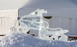 Alberta Beach Ice carving