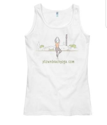 White Sleeveless Tshirt