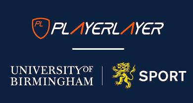 PlayerLayer logo and partnership with University of Birmingham Sport