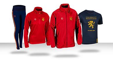 University of Birmingham sports kit supplied by PlayerLayer