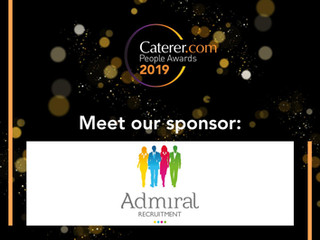 Admiral Recruitment sponsors the Caterer.com People Awards 2019